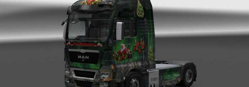 MAN Tgx Little Christmas skin v1.14