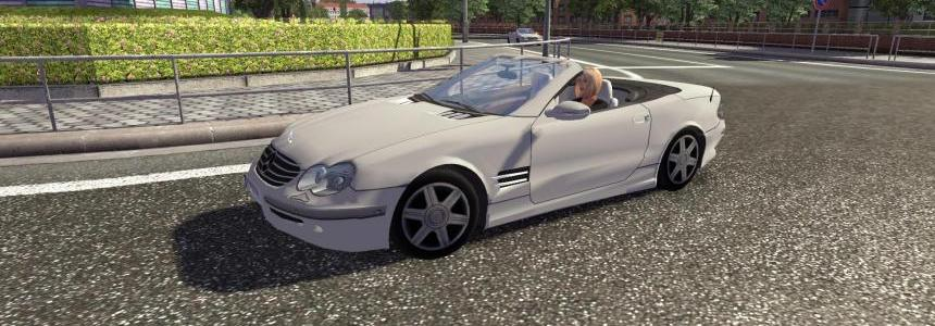 Mercedes Benz Cabrio AI Traffic Car