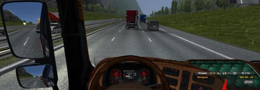 New interior for MB Actros v1.0