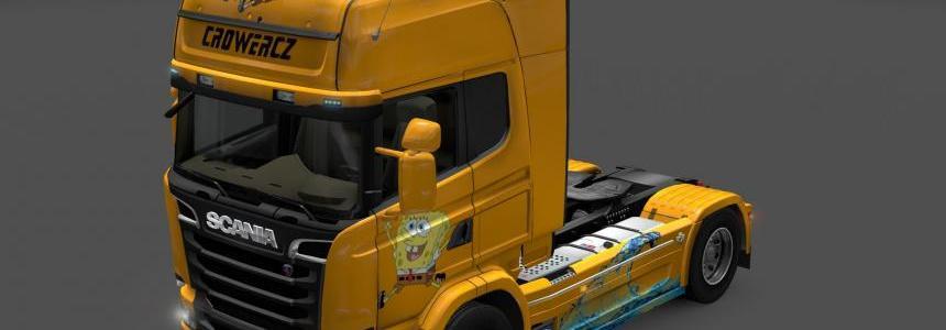 Scania Streamline Spongebob Skin 1.14.XX