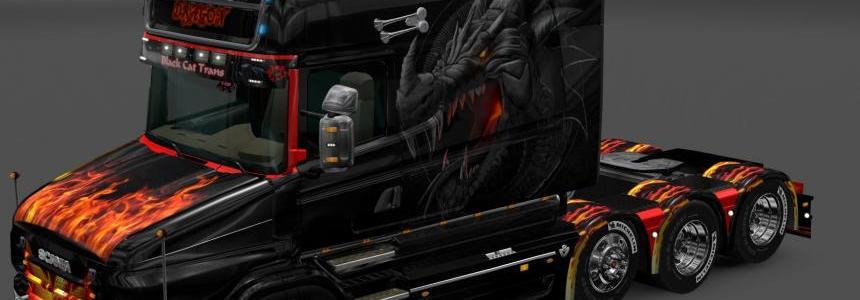 Scania T-longline dragon skin v1.0