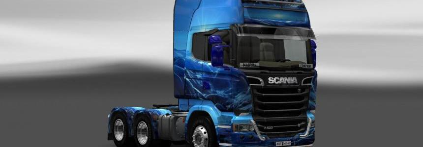 Skin Scania Streamline Light Blue