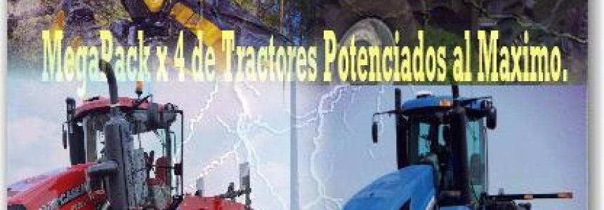 MegaPack x 4 de Tractores y Ponsse S Especiales v1.0