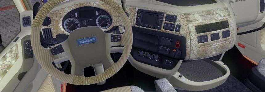 DAF XF Euro 6 Interior + Dashboard v1.3