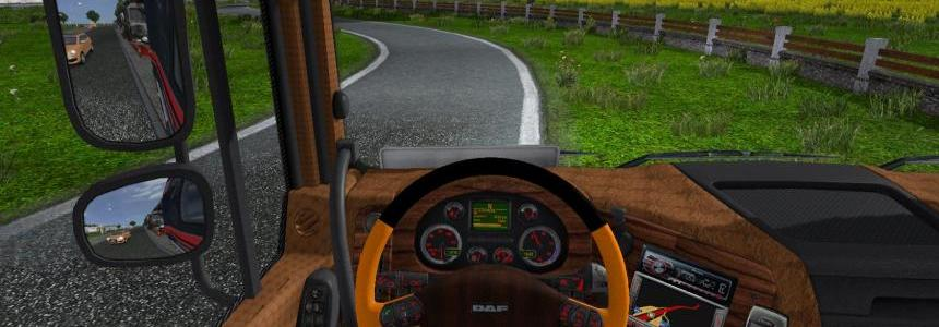 Daf XF leather, wood, carbon interior v2.0