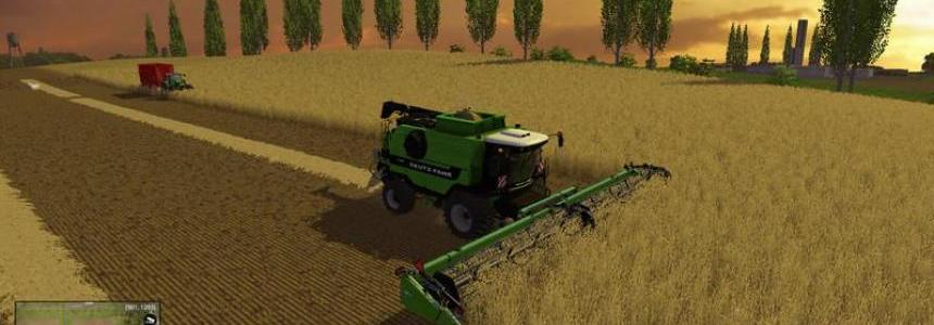 Deutz Fahr 7545 Super Flex Draper v1.0