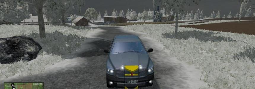 Dodge pickup with snowplow v2