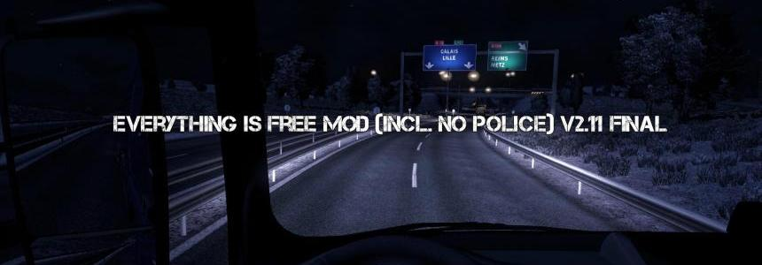 Everything is free mod (Incl. No Police) v2.11 FINAL