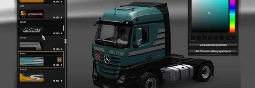 Mercedes Actros MP4 v2.0.0 + Skin Pack Rebuild v1.15
