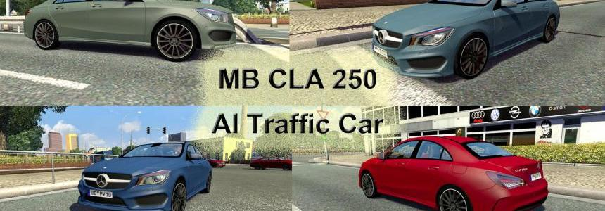 Mercedes Benz CLA 250 AI Traffic Car