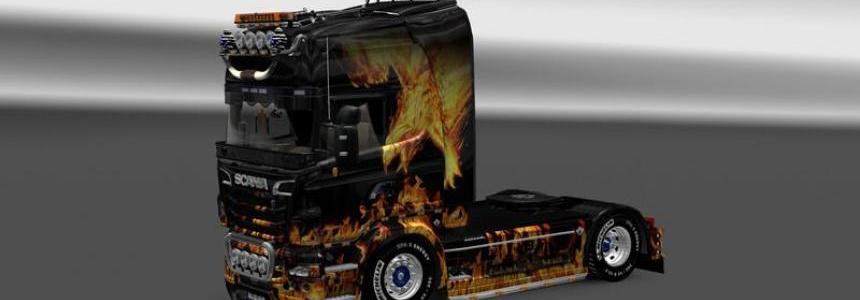 Scania R2009 Skin Phonix v1.0