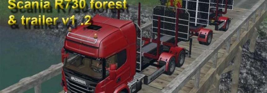 Scania R730 forest and trailer v1.2