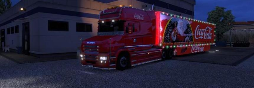 Scania T and Coca Cola Trailer XMAS v1.0