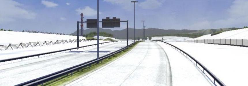 Snow on some roads Mod v1.5