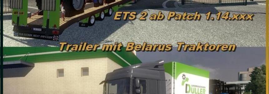 Trailer with Belarus tractors v1.0