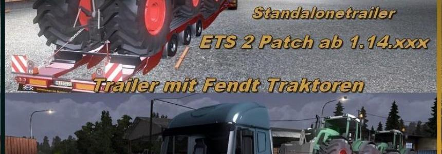 Trailer with Fendt Tractors v1.14