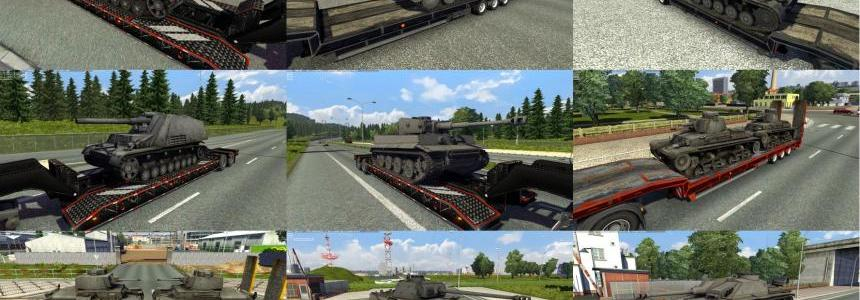 Trailers with tanks from WoT: German pack  v1.0