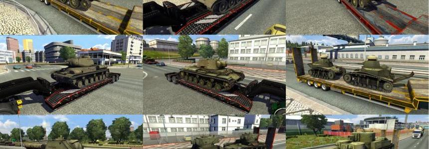 Trailers with tanks from WoT: Russian pack  v1.0