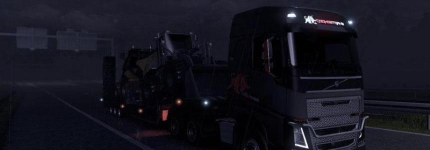 Volvo FH 2012 CookosTrans skin + Trailers v1.09