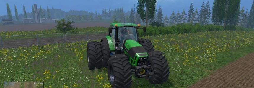 Deutz Fahr 7250 with Dynamic twin rear wheels v1.3