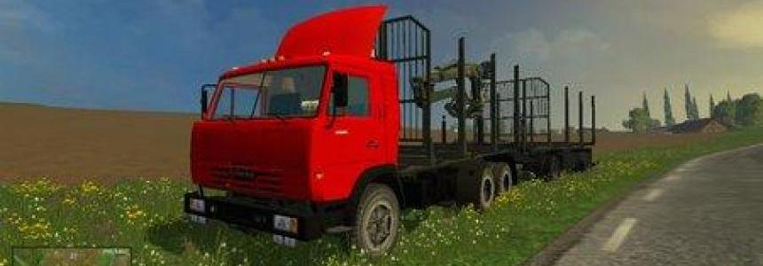 Kamaz 54115 Forest + Trailer GKB Forest