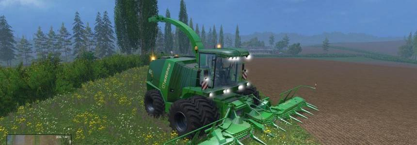 Krone BigX11 with Dynamic twin fronts whels pack v1.0
