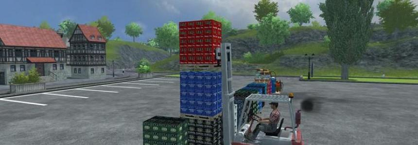 Linde forklift and the load v1.0
