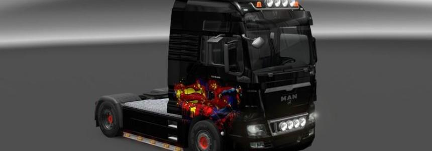 MAN TGX Superman Skin v1.0