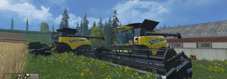 New Holland CR1090 Dynamic Front Single Wide Wheels V1.0