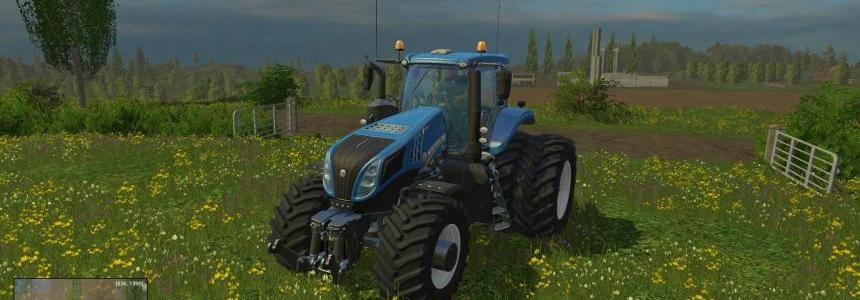 New Holland T8320 With Twin Dynamic Rear Wheels v1.0