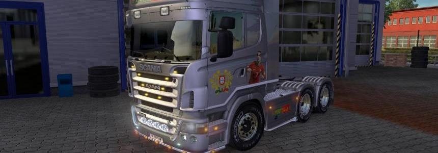 Scania R2008 50k Portugal Metallic Paint Job