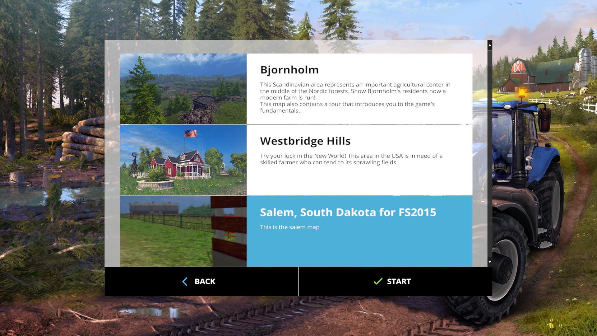 Salem South Dakota FS V Modhubus - Fs15 us maps