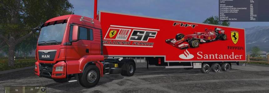 SKINS TRAILER - FERRARI F1/BANCO SANTANDER FINAL-  IMPROVED