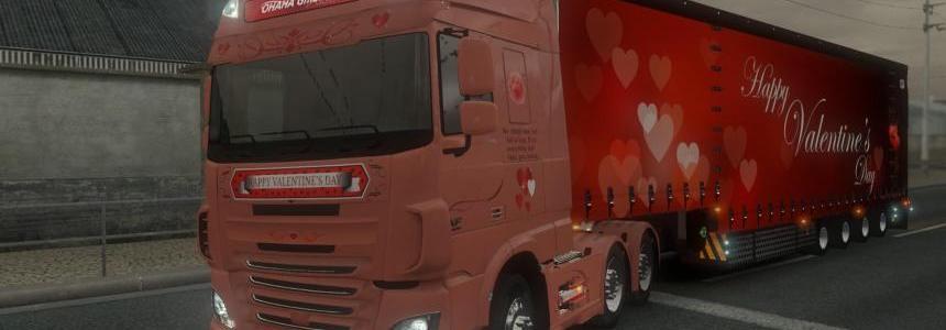 DAF XF Euro 6 Valentine's Day Skin Trailer Jumbo [Reworked]