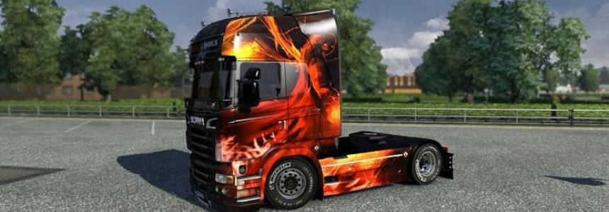 Devils and Angels Skin Scania R09 v1.16.2