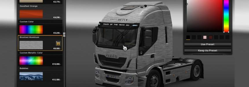 Iveco Hi Way Brushed Aluminum Skin