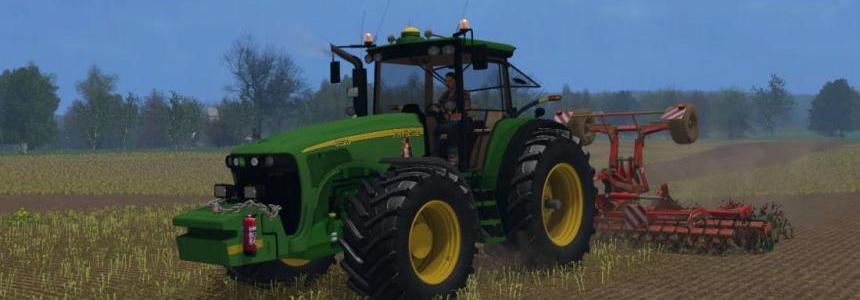 John Deere 8520 mod plowing + Bonus