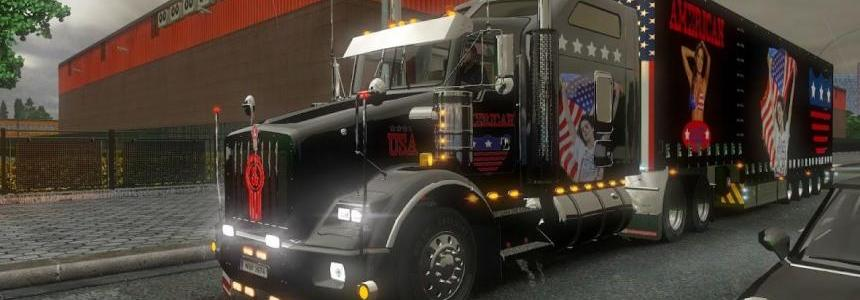 Kenworth T800 USA Metallic Skin