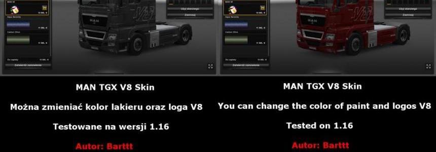 MAN TGX V8 skin 1.16