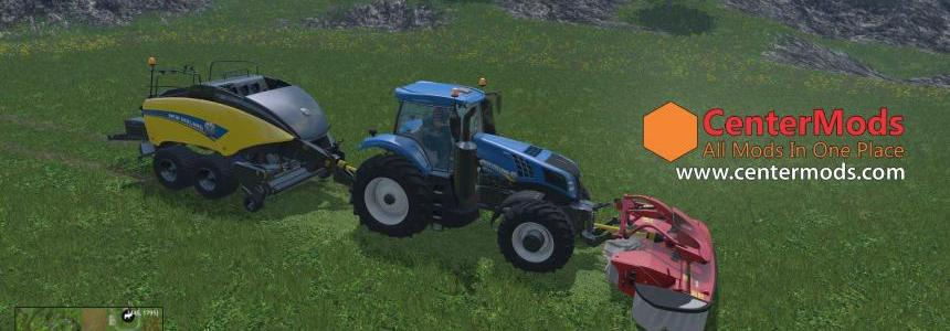 New Holland 20000L Capacity Twin Baler Add Grass Pack v1.0