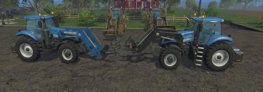 New Holland T8.320 with Front Loader Attachment & Large Loaders v1.0