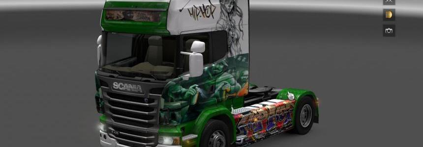 Scania R Graffiti Hip Hop skins 1.16.x