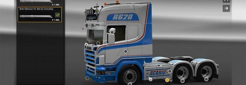 Scania R2008 side pipe v1