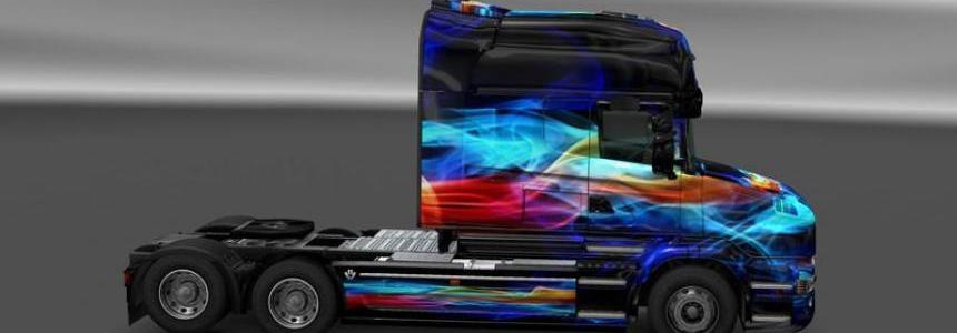 Scania T Skin Neon v1.0