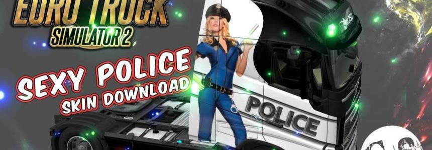 Volvo FH 2012 Sexy Police Skin + Trailer Standalone