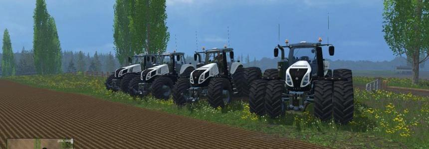 White New Holland T8's 4 pack Final Version's V1.5 Final
