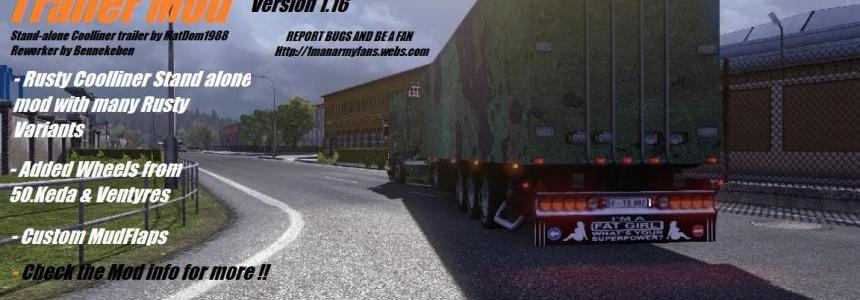 Bennekeben's Rusty Trailer Mod Tested on ETS2 version 1.16