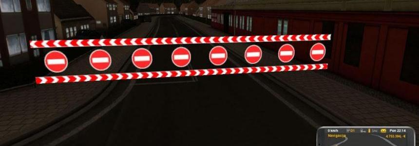 Closed Road Warning Wall v1.0