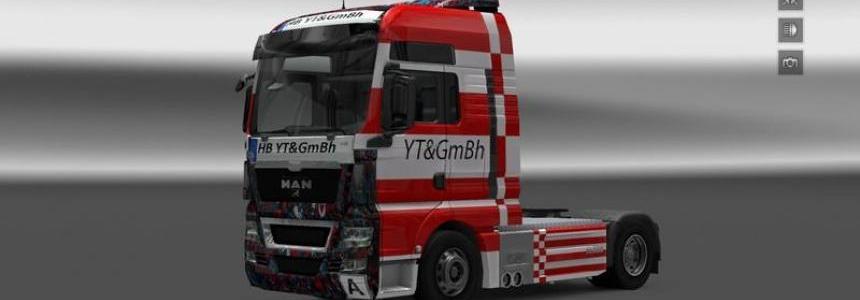 Companies skin YT GmBH MAN Tgx v1.16.2