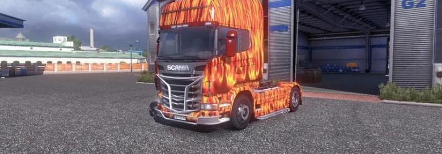 Flammen Skin Scania R 2009 v1.0
